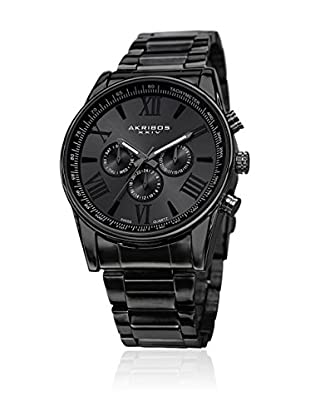 Akribos XXIV Uhr mit schweizer Quarzuhrwerk Man schwarz 45 mm