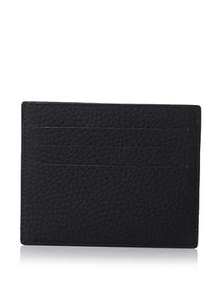 Leone Braconi Men's Card Holder, Black, One Size