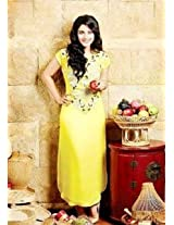 Ethnic Trend Pure Georgette Bollywood Replica Dress - 1028 (Yellow)