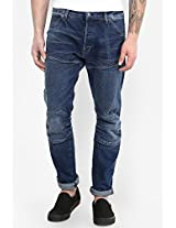 Blue Solid Slim Fit Jeans G-star Raw
