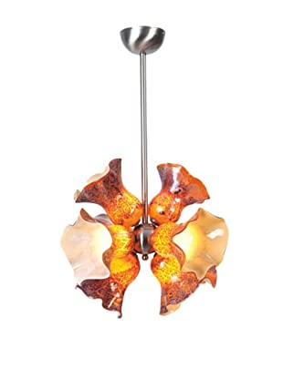 Viz Art Glass Targary Pendant (Amber Multi)
