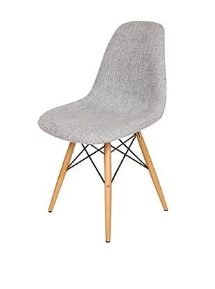 Stilnovo Ansgar Side Chair, Grey/Wood