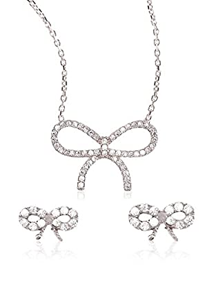 Ingenious Jewellery Set Collier und Ohrringe Sterling-Silber 925