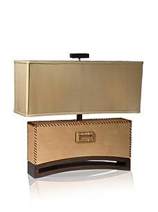 """Aqua Vista Carmelo Table Lamp, Beige Shagreen, 21"""""""