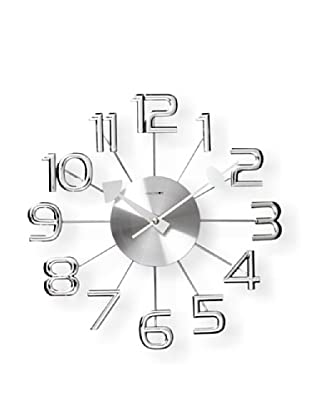 Verichron Clocks Ultra-Modern Numeral Wall Clock (Silver)