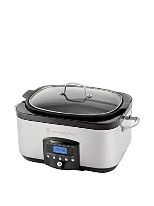 Wolfgang Puck 6-Qt. Electronic Multi-Cooker with Dual Heating Elements, Black