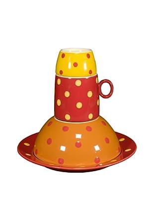 Cayos Company Set 4 Pezzi Tavola Bimbo Arancio