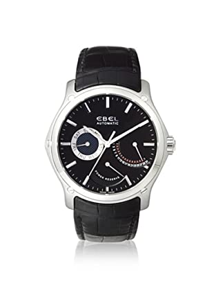 Ebel Men's 1215865 Classic Black Leather Stainless Steel Watch