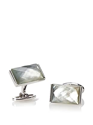 Jan Leslie Doublet Faceted Dyed Mother of Pearl Sapphire Cufflinks