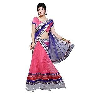 Ishin Pink And Blue Printed Lehenga Choli ISHIN 954