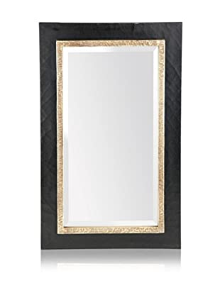 Uttermost Seth Vanity Mirror, Black/Antiqued Silver