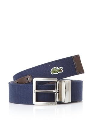 Lacoste Men's Reversible Dual Belt (Navy/Brown)