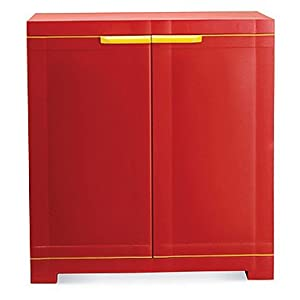 Nilkamal Bright Red Compact Multipurpose Storage