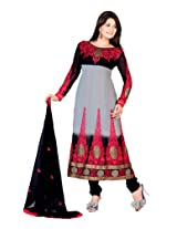 Fabdeal Women's Indian Wear Embroidered Salwar Magenta & Black-CNT201909RI