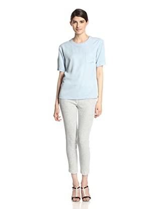 Thakoon Addition Women's Zip Shoulder T-Shirt (Light Blue)
