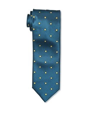 Massimo Bizzocchi Men's Polka Dot Tie, Teal