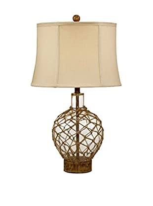 Bassett Mirror Company Nautilus Table Lamp, Clear Glass/Fishnet