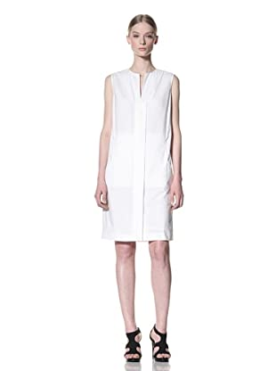 Calvin Klein Collection Women's Sleeveless Dress with Front Placket (Ivory)