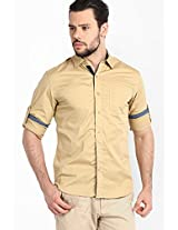Beige Casual Shirts Locomotive
