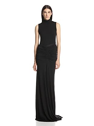 Rick Owens Lilies Women's Extra Long Skirt (Black)