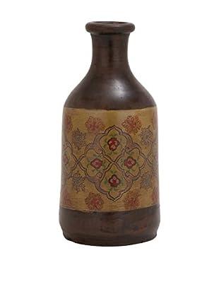 Terracotta Painted Vase, Brown/Multi