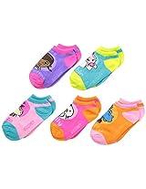 Doc McStuffins Little Girls' 5 Pack No Show Socks