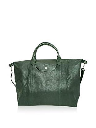 Longchamp Bolso asa de mano Le Pliage Cuir Sac L