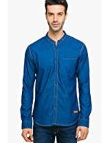 Blue Regular Fit Casual Shirt Status Quo