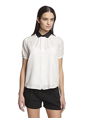 Band of Outsiders Women's Dot Jacquard Blouse (Snow White)
