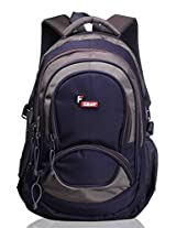 F Gear Storm Blue Grey Laptop Backpack