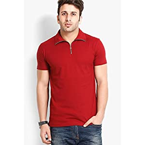 Solid Maroon Polo T Shirt