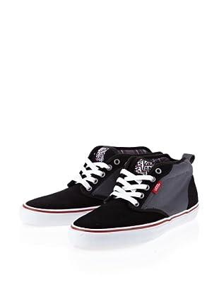 Vans M ATWOOD MID (Cnvs)bk/gry/rd VNJP53T - Zapatillas de cuero para hombre (Negro)