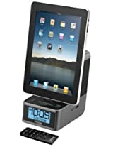 iHome iD37 Dual Alarm Stereo Clock Radio with FM Preset Station Memory for iPad, iPhone and iPod (Black)