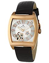 Bulova Bva Automatic Leather Ladies Watch 97P101