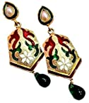 Earrings - Maayra Lovely Multicolour Wedding Dangler Earrings