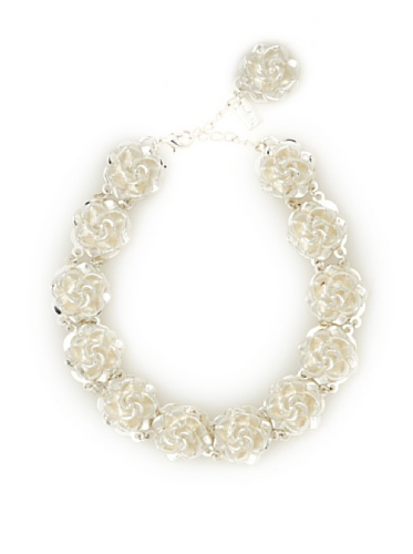 Tuleste Market Rosette Choker Necklace, Silver