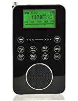 Degen DE1131 4-in-1 Touch Screen Controlled Portable AM/FM/SW Digital Radio, MP3 Player with Built-in 4GB Flash Memory and Micro-SD Card Reader, Voice Recorder & E-book Reader