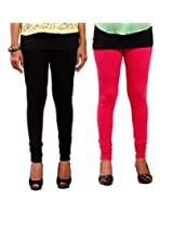1FORME-GL-COMBO-Black and Pink Leggings