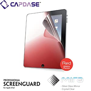 CAPDASE iPad mira 'Red Glass Mirror' 「レッド・グラス・ミラー」 液晶保護シート SPAPIPAD-MR