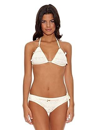 Agua Bendita Bikini Triángulo Bordado Vela (Blanco)