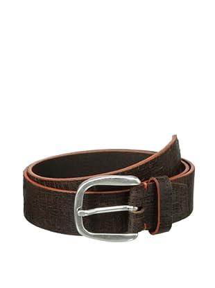Bolliver Men's Painted Cracked Belt (Orange/Brown)