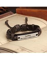 Bracelets - Leather Friendship Band Love Band Cum Bracelet For Togetherness Classic Brown