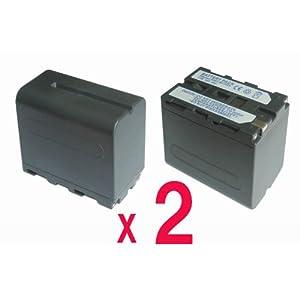 【クリックで詳細表示】Amazon.co.jp|【2個セット・残量表示付】 ソニー Sony NP-F960 NP-F970 互換 バッテリー の 2個セット VX-2000 DCR-VX9000 DCR-VX2100 等対応|カメラ・ビデオ通販