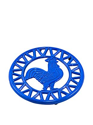 Old Dutch International Two-Tone Rooster Trivet, Dazzling Blue