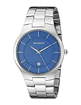 Skagen Grenen Analog Blue Dial Men's Watch - SKW6181