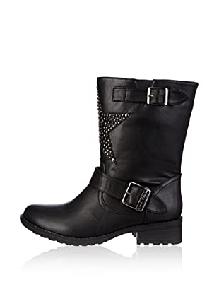 Buffalo London Botas Moteras Óscar (Negro)