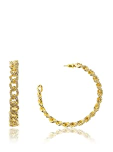 Joanna Laura Constantine Gold Link Hoops with CZ