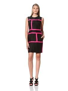 MARTIN GRANT Women's Rectangle Dress (Black/Fuchsia)