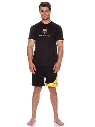 Licencias Pijama Adulto Barça (Negro)