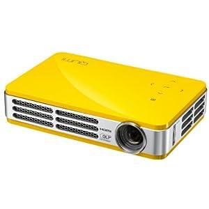 Vivitek Qumi Q5 3D Ready LED Pocket Projector 720p HDTV 16:10 1280x800 WXGA 10000:1 500 lumens HDMI USB VGA Speaker Yellow